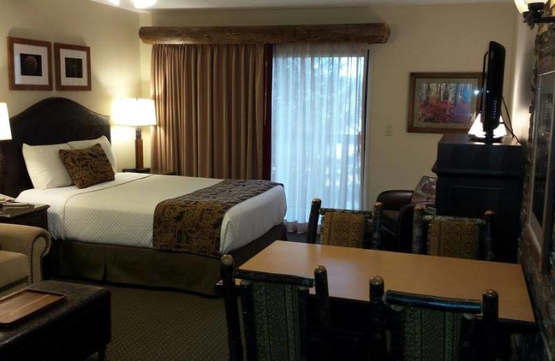 Guest room at Stoneridge Resort.