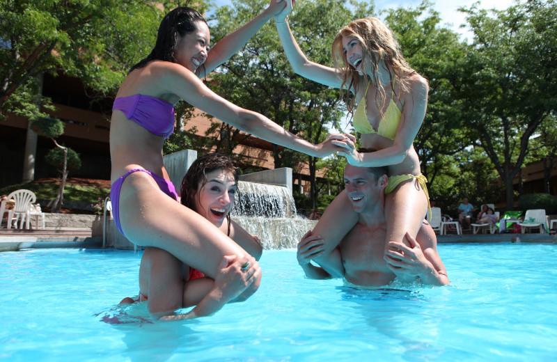 Pool party at Kah-Nee-Ta Resort and Spa.