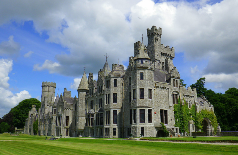 Exterior view of Humewood Castle.