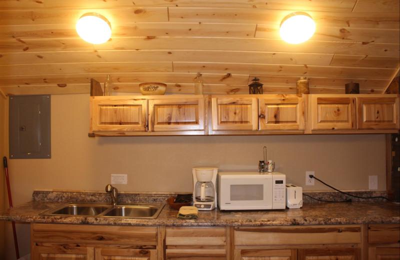 Kitchen at Misty Mountain Lodge.