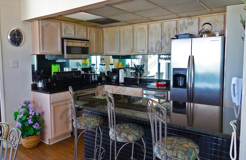 Rental kitchen at Resort Destinations.