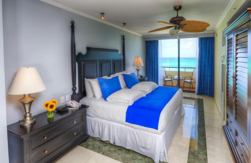Guest room at Occidental Grand Aruba.