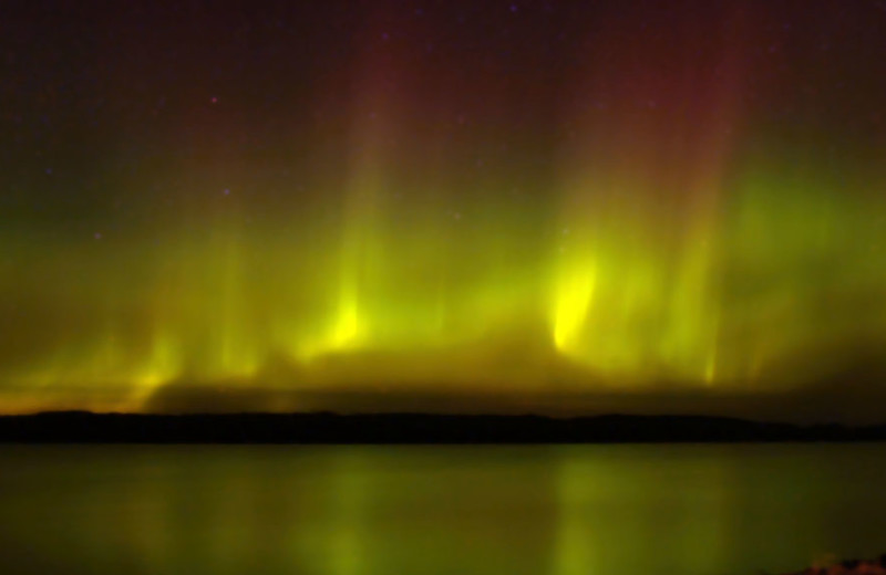 Northern lights at Gunflint Lodge.