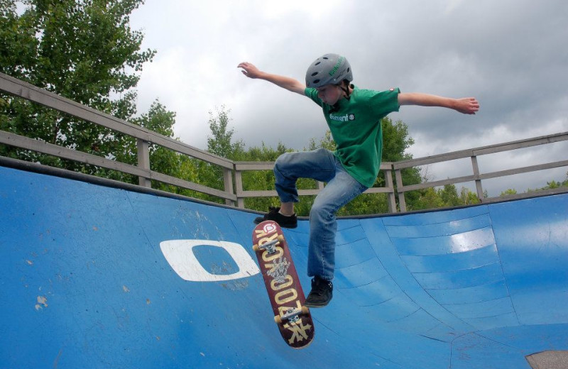 Skate park at Waterville Valley Resort.