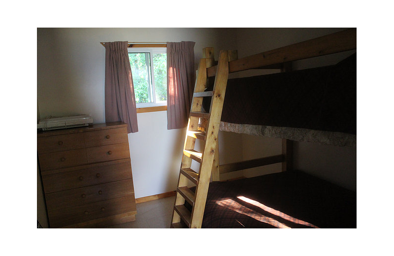 Cabin bedroom at Black Rock Resort.