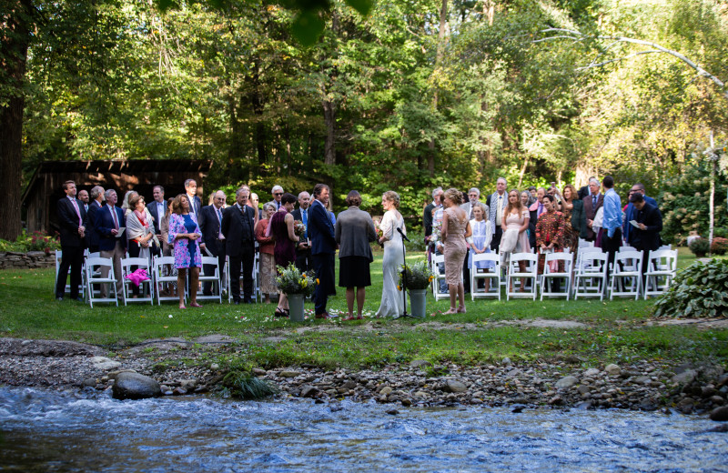The perfect wedding ceremony location at the Four Columns Inn.