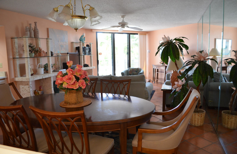 Rental living room at 1800 Atlantic, All Florida Keys Property Management.