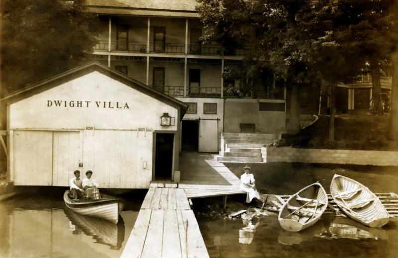 Historical photo of Bay Pointe Inn.