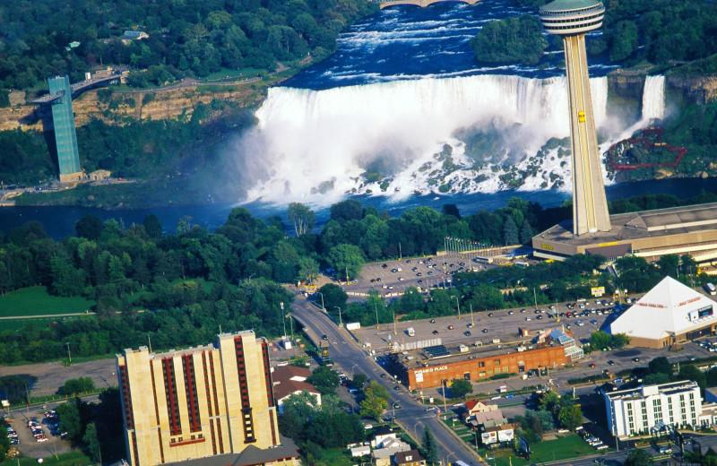 Waterfall view at DoubleTree Fallsview Resort & Spa by Hilton - Niagara Falls.
