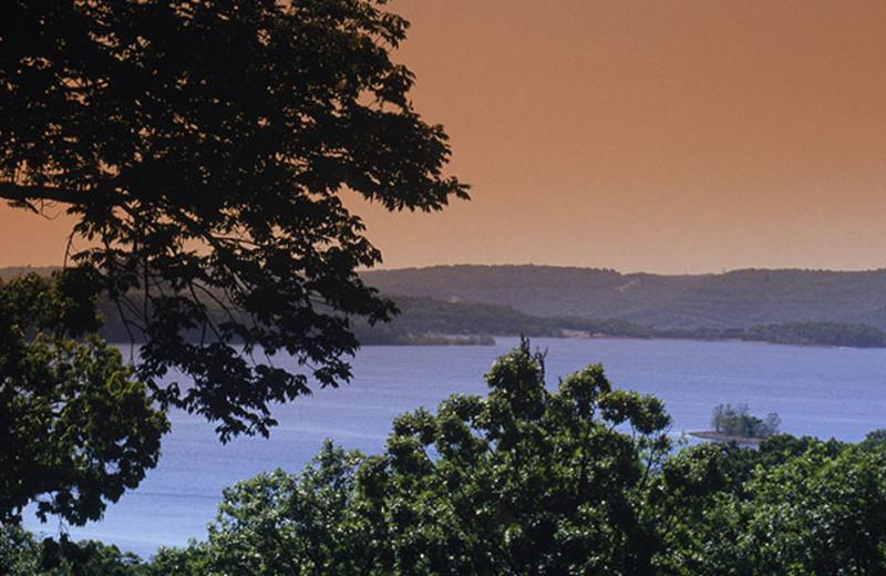 Lake view at Thousand Hills Golf Resort.