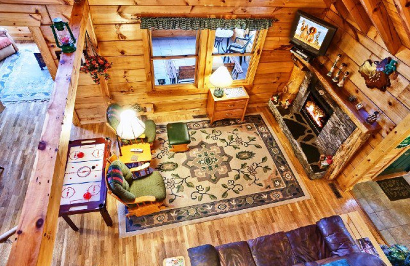 Cabin interior at Alpine Mountain Chalets.