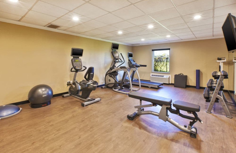 Fitness room at Holiday Inn Express Hotel & Suites - Benton Harbor.