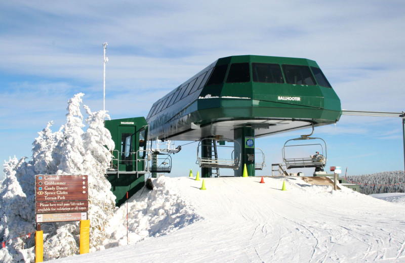Ski lift at Snowshoe Properties Management.