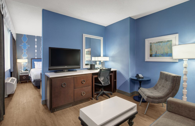 Guest Room at Fairfield Inn & Suites Chicago Downtown/Magnificent Mile Hotel