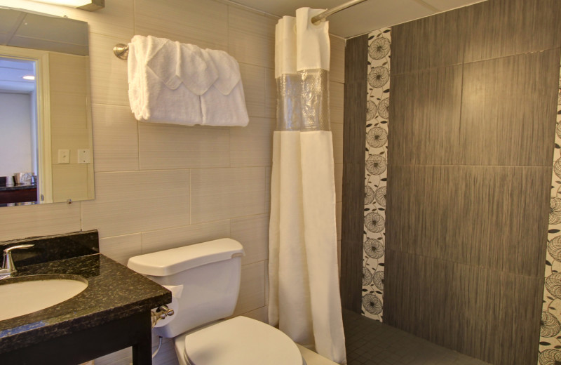 Guest bathroom at WindWater Hotel & Resort.