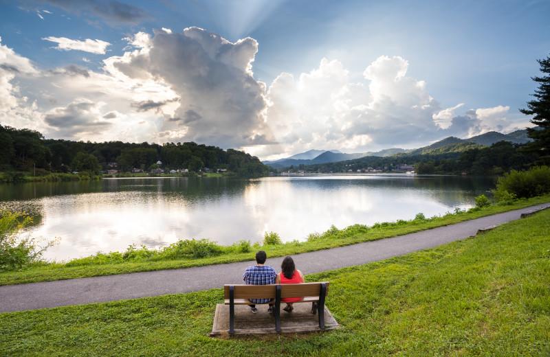 Lake Junaluska provides a romantic, relaxing setting for visitors.