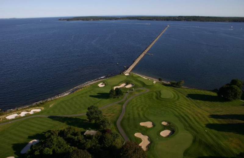 Aerial Golf Course View at The Samoset Resort