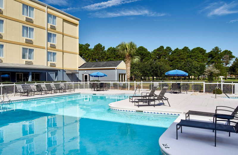 Pool at Fairfield Inn Myrtle Beach Broadway at the Beach.