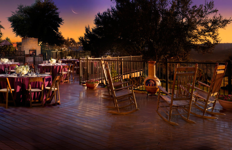 Patio at Omni Barton Creek Resort & Spa.