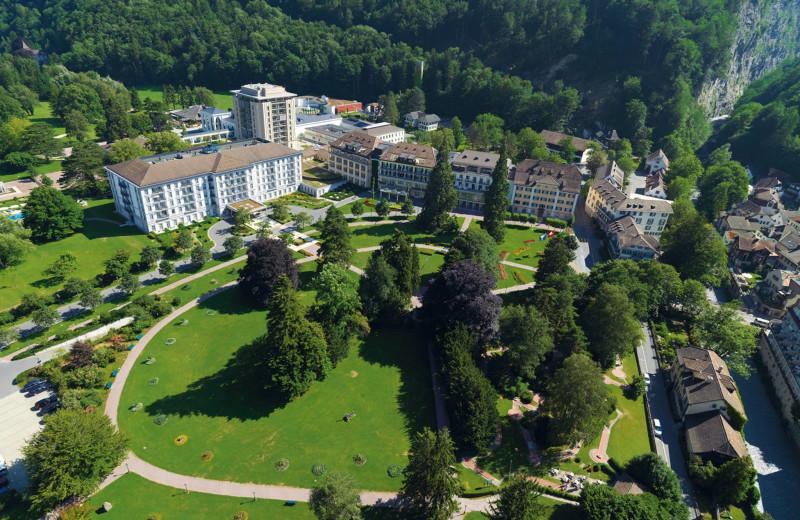 Exterior view of Grand Hotels Bad Ragaz Switzerland.