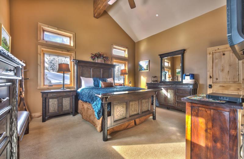 Rental bedroom at Park City Rental Properties.