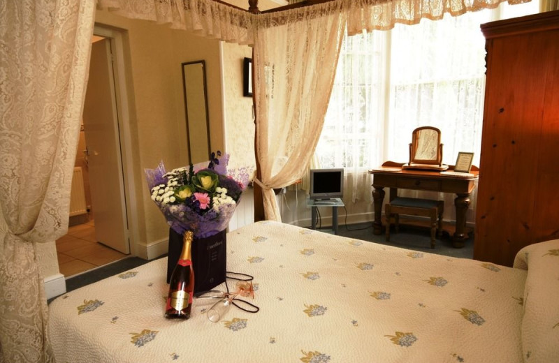 Guest room at White Lodge Hotel.