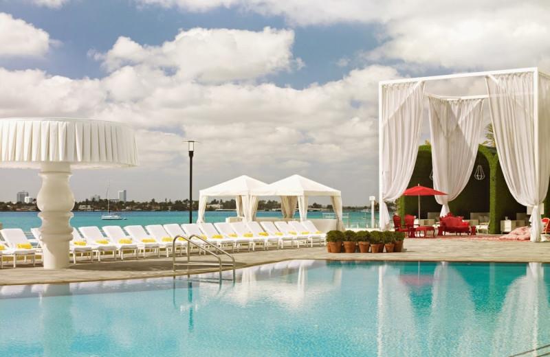 Outdoor pool at Mondrian Miami.