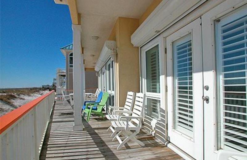 Deck View at Meyer Vacation Rentals