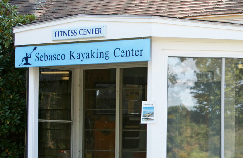 Fitness center at Sebasco Harbor Resort.