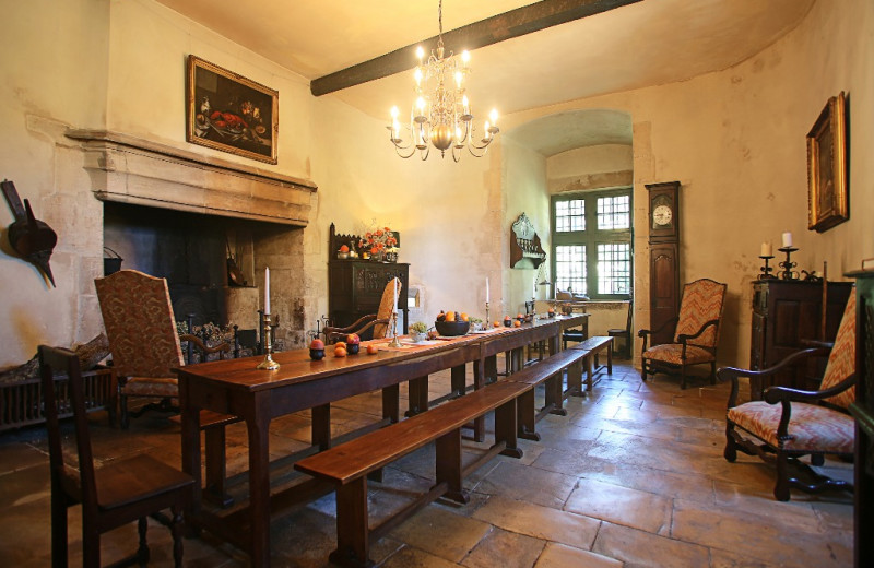 Castle dining room at Luxury Castle Hire.