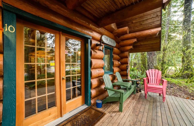 Rental porch at Mt. Baker Lodging.