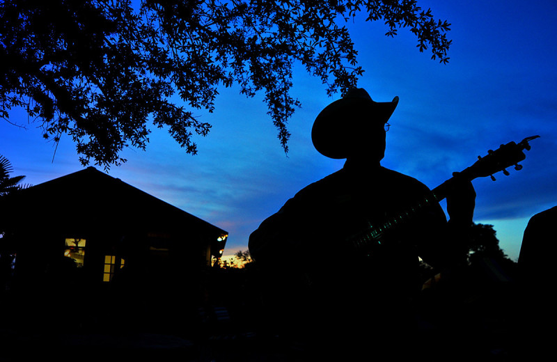 Guitar player at Flying L Hill Country Resort & Conference Center.