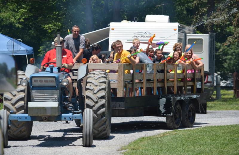 Tractor at Yogi at Shangri-La - Jellystone Park.