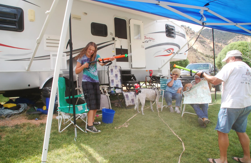 Camping at Big Rock Candy Mountain Resort.
