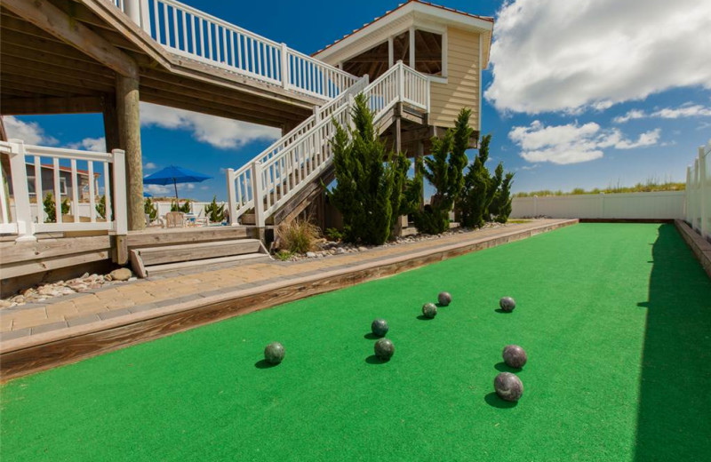 Rental bocce ball at Sandbridge Realty.