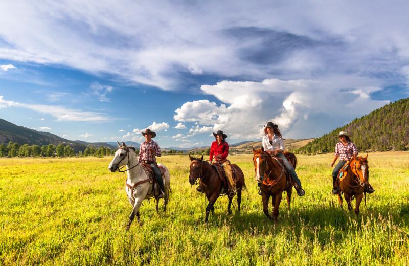 Horseback riding at The Ranch at Rock Creek.