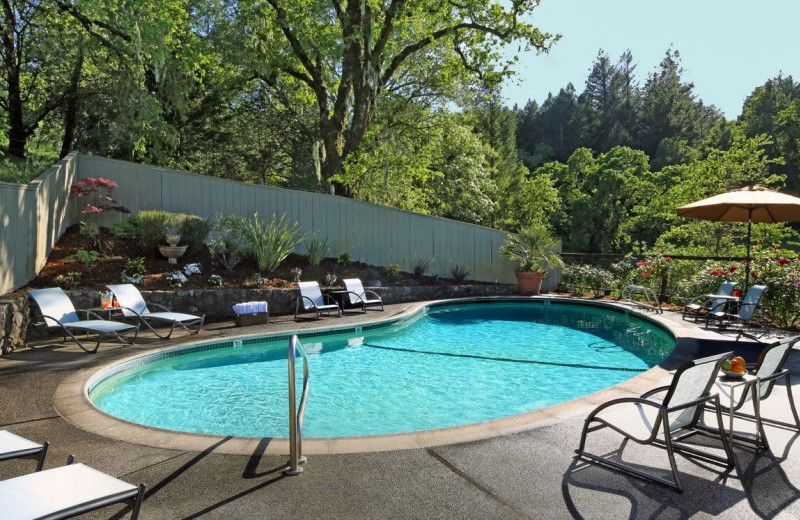 Outdoor pool at Chanric Inn.