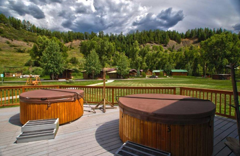 Hot tubs at High Country Lodge.