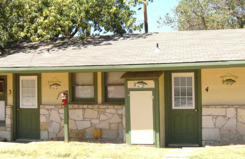 Cottage Exterior at The Edgewater Waterfront Cottages