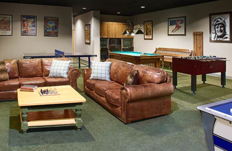 Game room at Fairmont Heritage Place, Franz Klammer Lodge.