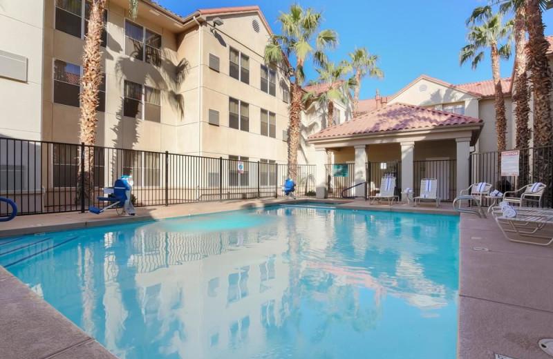 Outdoor pool at Homewood Suites Phoenix - Chandler.