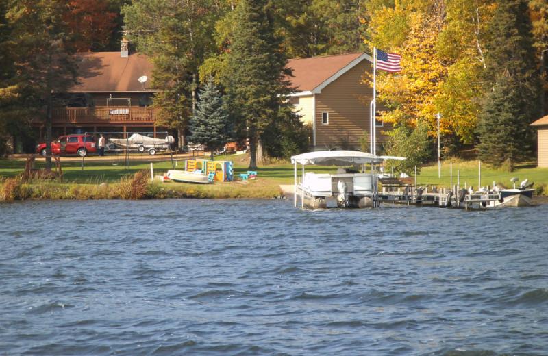 Cabins at Wind Drift Resort.