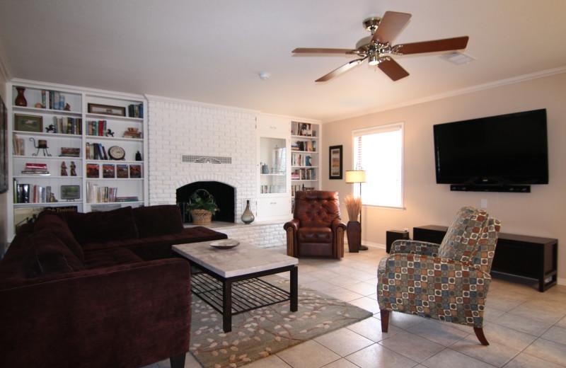 Azure Relaxin on LBJ Big House Living Room