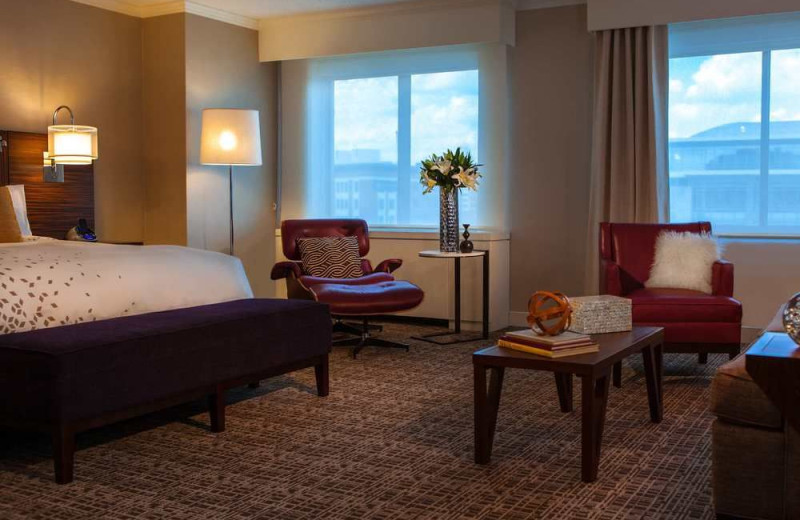 Guest room at Renaissance Washington DC Hotel.
