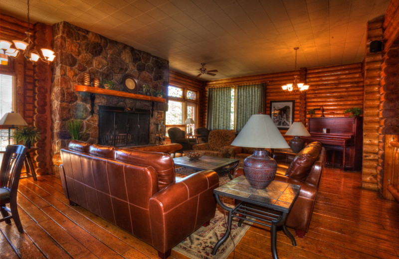 Lobby at Overlander Mountain Lodge.