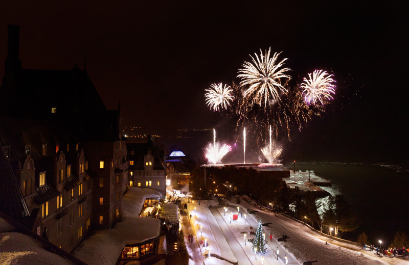 Fireworks at Fairmont Le Manoir Richelieu.