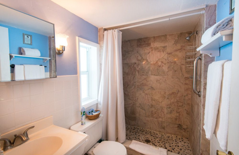 Guest bathroom at Silver Sands Villas.