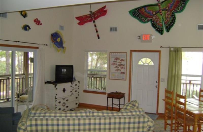 Interior view of Turtle Beach Inn.