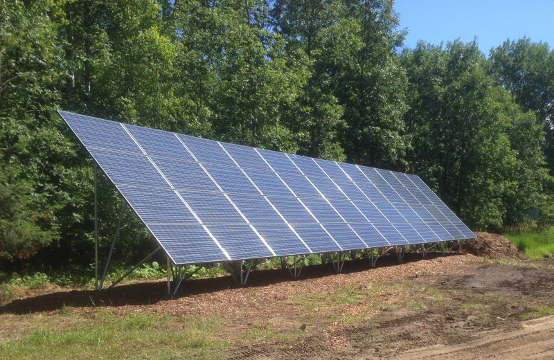 Solar power at Cabin O'Pines Resort & Campground.