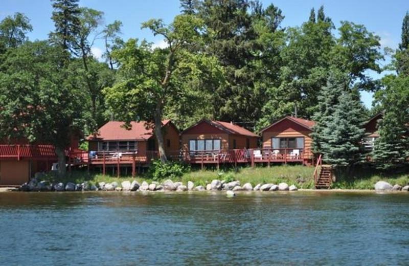 Cabins exterior at Fair Hills Resort.